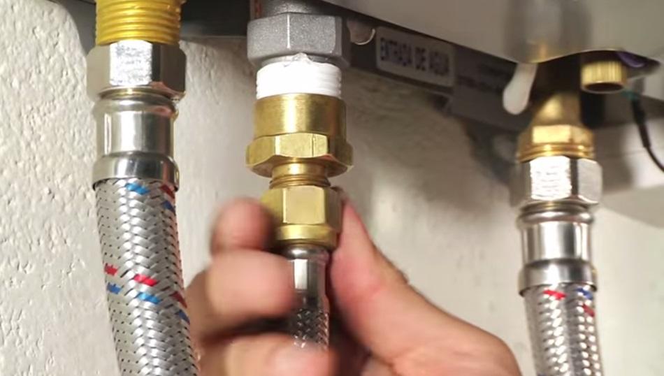 El uso de calentador a gas