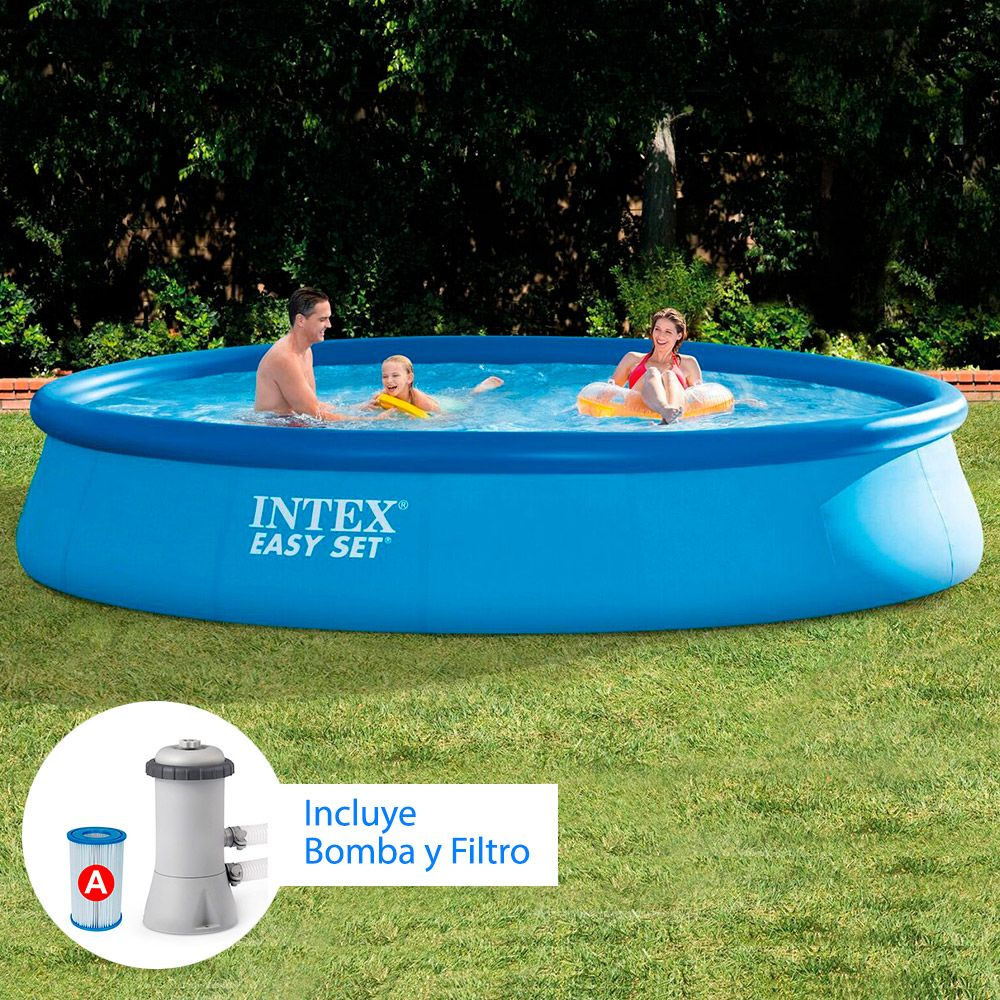 Piscina inflable easy set 002103 aquasistemas for Piscina inflable intex