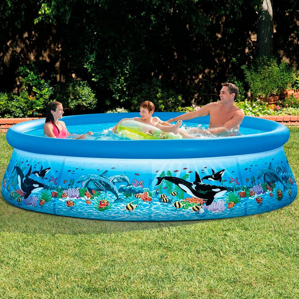 Piscina inflable easy set 002101 aquasistemas for Piscina inflable intex