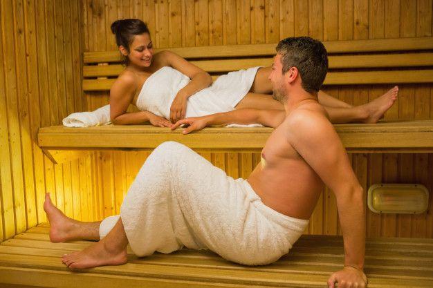 Masaje en pareja en el sauna